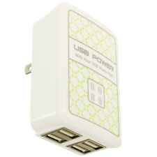 4 Port 3.1 Amp Fast Rapid Wall Home Travel AC Charger for Phones Tablets