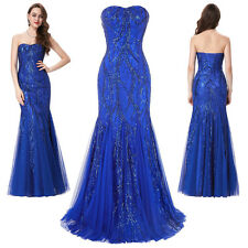 Long Mermaid Evening Bridesmaid Dress Prom Formal Party Ball Celebrity Gown