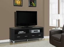 """Tv Stand - 60""""L / Cappuccino With 4 Drawers"""