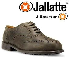 Mens JALLATTE S1P Leather Executive Work Safety Shoes Steel Toe Caps Boots 6-12