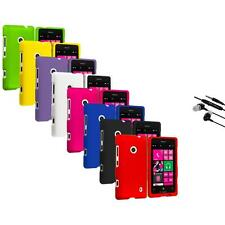 For Nokia Lumia 521 Snap-On Hard Rubberized Matte Case Cover Earphone Mic