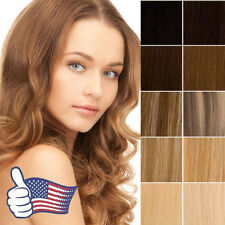 5A Clip In 100% Remy Human Hair Extensions Full Head Long Straight Can Curl P938