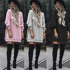 Women Soft Warm Long Sleeve Pullover Loose Sweater Jumper Tops Blouse Hot Sale
