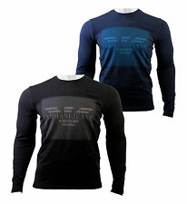 ARMANI JEANS Mens T- Shirt Crew Neck Long Sleeve Muscle Fit 100% Genuine