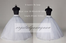 Vintage A Line Petticoat Crinoline 8 Layers Wedding Dress Underskirt Slips Tulle