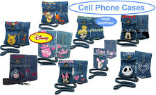 Disney Minnie Eeyore Pooh Cell Phone Universal MP3 iPod Denim Jean Pouch Case