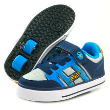 Heelys Bolt Plus Navy/Blue/Grey with Flashing Lights - Size 3 & Jnr 13 SALE!
