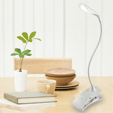 Rechargeable Touch Sensor 14LED Clip-On Desk Table Dimmable Reading Light Lamp M