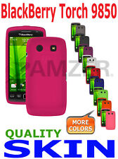 AMZER Silicone Skin Luxe Argyle Cover + xtra Case Screen Guard Torch 9850 9860
