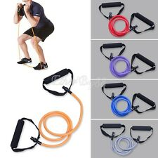 8-28LBS Exercise Resistance Band Pilates Latex Tube for Gym Yoga Fitness Workout