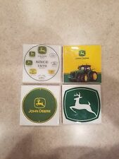 John Deere Themed 4x4 Ceramic Coasters Handmade
