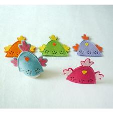 4pcs Chick Easter Egg Design Covers Holder Wrap Ornament Present 5 Colors