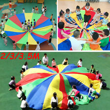 Children Kids Play Toys Rainbow Parachute Outdoor Game Family Exercise Sport New