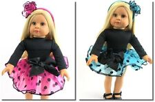 Polka Dot Tutu Skirt Set You Choose Fits 18 in American Girl Doll Clothes