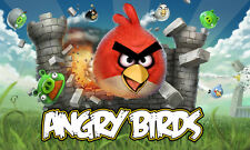 Angry Birds Game Poster HQ Print XXL or Giant Wallart Wallpaper