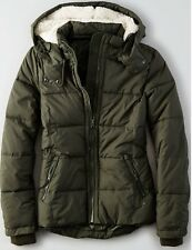 American Eagle Outfitters Women's Quilted Parka Jacket Olive - L, XL