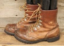 MENS VINTAGE IRISH SETTER RED WING LACE UP MOC TOE WORK / LOGGER BOOTS SZ. 8.5 D