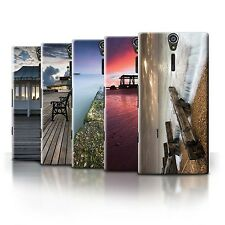STUFF4 Phone Case/Back Cover for Sony Xperia S/LT26i /English Seaside