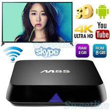 1G+8G/2G+8G M8S Android 4.4 Quad Core WiFi 1080P Smart TV Box Media Player Lot