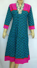 Ethnic Indian Bollywood Designer Dresses Kurta Kurti Tunic Cotton Anarkali Top