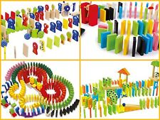 Domino Rally Game Toy Children Kids Classic Colourful Blocks Animals Knock Down