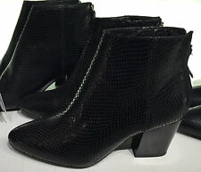 ZARA EMBOSSED LEATHER HIGH HEEL ANKLE BOOTS 35-41 REF. 6142/101