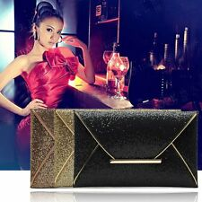 Lady Sparkling Dazzling Sequins Clutch Bag Purse Evening Party Handbag BE