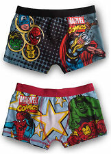 BOYS MARVEL COMICS AVENGERS BOXERS - PACK OF 2