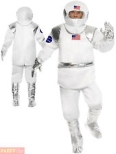 Mens Spaceman Costume Adult Astronaut Fancy Dress Space Man Nasa Outfit Suit
