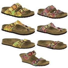 Papillio by Birkenstock Arizona Gizeh Dorothy African Wax Sandals Womens Thongs