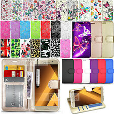 For Samsung Galaxy A3 2017 - Wallet Leather Case Flip Cover + Screen Protector