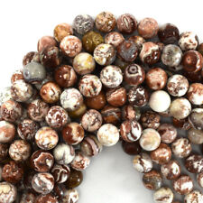 """Mexican Crazy Lace Agate Round Beads Gemstone 15"""" Strand 6mm 8mm 10mm 12mm"""