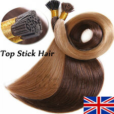 "200S 16"" 18"" 20"" 22"" 24"" 1g/s Stick I Tip 100% Human Hair Extensions 1g/0.5 N182"