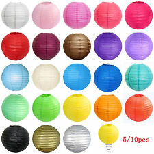 "5/10 Pack of 8"" Multicolor Chinese Lampshades Paper Lantern Wedding Party Decor"