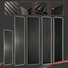 MIXED Vertical Black & Anthracite Central Heating Radiators, Oval & Flat Tubes