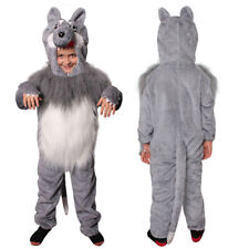 CHILDS WOLF FANCY DRESS COSTUME PLUSH ANIMAL SCHOOL WORLD BOOK CHARACTER ONESIE