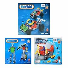 95 PCS Metal DIY Construction Kit for kids Air-Plane and Race Car Build & Play