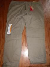 NWT WOMENS WOOLRICH SUNDAY CHINO PANT KHAKI BROWN TAN ANKLE PANTS 4 6 8 12 14 16