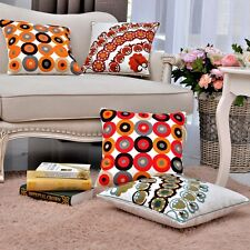 2PCS Embroidered Cushion Cover Throw pillow covers Cotton Geometric Rings 18X18