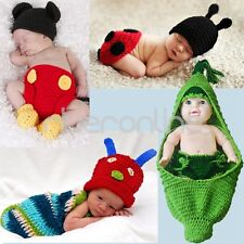 Newborn Boy Girl Baby Crochet Knit Costume Photography Photo Prop Hat Outfit Set