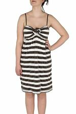 Twisted Heart Clothing Lounge Brown Striped Terry Cloth Dress Swim Suit Cover