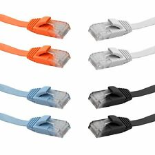 FLAT Ethernet CAT6 Network Cable Patch Lead RJ45 for Smart TV/Xbox 1M/3/5M/10M
