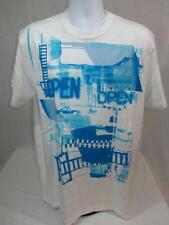 Mens new Marc Ecko Cut & Sew t-shirt Open For Biz size L 2XL bleach white