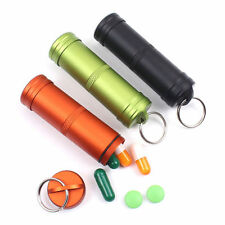 Portable Survival Pill Waterproof Capsule Seal Bottle Case Container Holder Tool