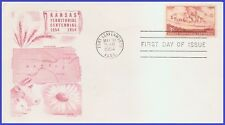 US #1061 U/A CACHET CRAFT 2 FDC   Kansas Territory