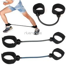 Leg Thigh Fitness Workout Exercise Latex Tube Resistance Band Ankle Straps New