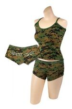 US Marine Corps Top & Booty Shorts SET Woodland Digital MARPAT Camo USMC XS-2X