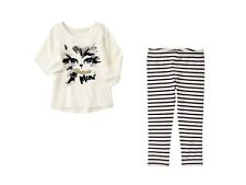 NWT Gymboree CATASTIC SZ  2T 3T Cat Face Tee & Striped Leggings