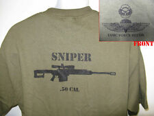 USMC FORCE RECON SNIPER T-SHIRT/ .50 CAL/ OLD SCHOOL.