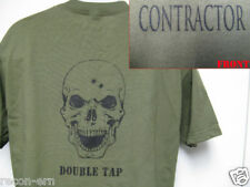 PVT MILITARY CONTRACTOR T-SHIRT/ DOUBLE TAP/ SKULL